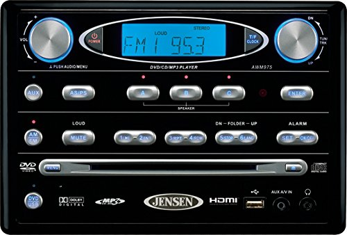 Asa Electronics Awm975 Black Am Fm Dvd Stereo Rv