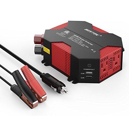 Bestek 400w Power Inverter Dc 12v To Ac 110v Car Adapter